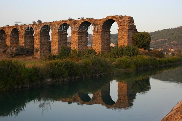 turkey342: Aspendos / Belkis - Antalya province, Turkey: Roman aqueduct and the Köprü Çayi river - photo by C.Roux - (c) Travel-Images.com - Stock Photography agency - Image Bank