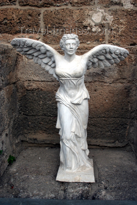 turkey343: Turkey - Aspendos / Belkis - Antalya Province - Mediterranean region: winged statue - Nike - photo by C.Roux - (c) Travel-Images.com - Stock Photography agency - Image Bank