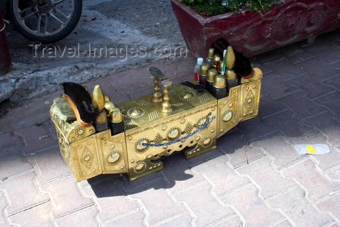 turkey347: Turkey - Antalya: gilded  shoeshine gear - photo by C.Roux - (c) Travel-Images.com - Stock Photography agency - Image Bank