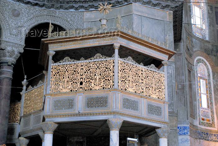 turkey378: Istanbul, Turkey: Sultan's loge - Hagia Sophia - Saint Sophia / Ayasofya / Haghia Sophia - photo by M.Torres - (c) Travel-Images.com - Stock Photography agency - Image Bank