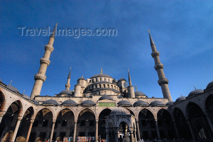 turkey386: Istanbul, Turkey: Blue mosque - view from the courtyard - Sultan Ahmet Camii - photo by M.Torres - (c) Travel-Images.com - Stock Photography agency - Image Bank