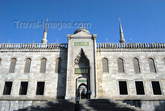 turkey393: Istanbul, Turkey: Blue mosque - exit to the Hippodrome - Sultan Ahmet Camii - photo by M.Torres - (c) Travel-Images.com - Stock Photography agency - Image Bank