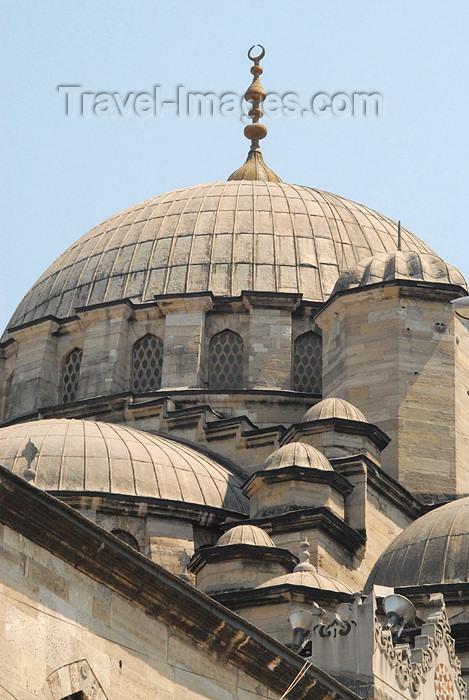 turkey396: Istanbul, Turkey: New mosque - dome - yeni cami - Eminonu - photo by J.Wreford - (c) Travel-Images.com - Stock Photography agency - Image Bank