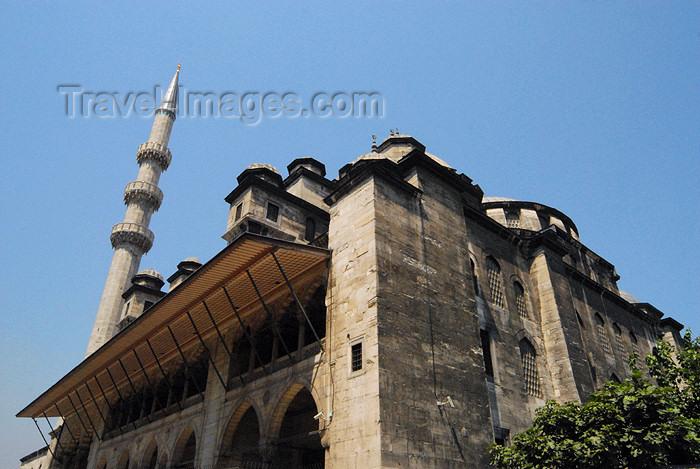 turkey397: Istanbul, Turkey: New mosque - façade on Hasircilar caddesi - yeni cami - Eminonu - photo by J.Wreford - (c) Travel-Images.com - Stock Photography agency - Image Bank