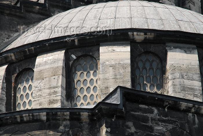 turkey401: Istanbul, Turkey: New mosque - windows - yeni cami - Eminonu - photo by J.Wreford - (c) Travel-Images.com - Stock Photography agency - Image Bank