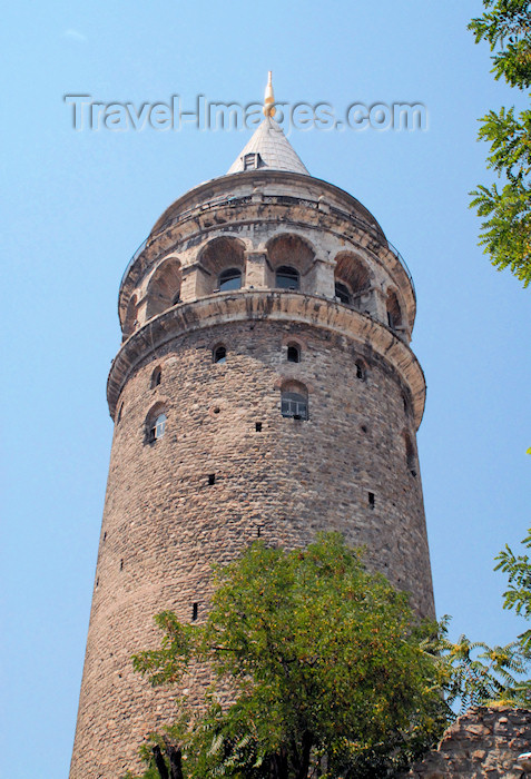 turkey409: Istanbul, Turkey: Galata Tower - Tower of Christ / Christea Turris built by the Genoese - landmark, cone-capped cylinder - Galata Kulesi - Beyoglu district - photo by M.Torres - (c) Travel-Images.com - Stock Photography agency - Image Bank