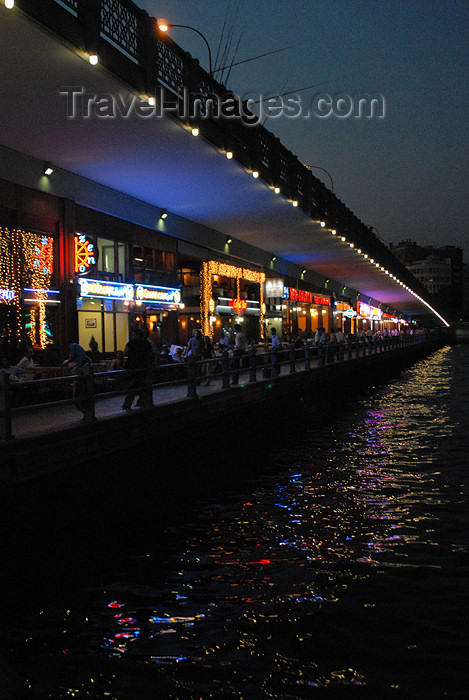 turkey413: Istanbul, Turkey: restaurants under the Galata brigde - photo by M.Torres - (c) Travel-Images.com - Stock Photography agency - Image Bank