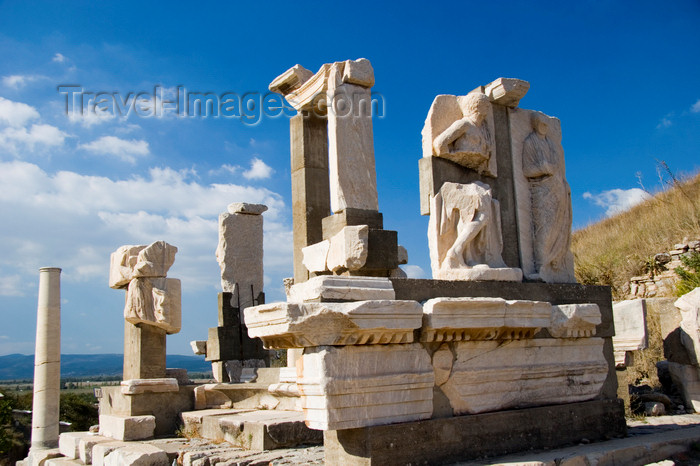 turkey46: Efes / Ephesus - Selcuk, Izmir province, Turkey: Memmius Memorial - north side of the Domitian Square - constructed by Memmius, the grandson of dictator Sulla - photo by D.Smith - (c) Travel-Images.com - Stock Photography agency - Image Bank
