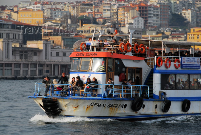 turkey491: Istanbul, Turkey: Bosphorus tour boat, Cemal Safran - Golden Horn and Galata, Beyoglu district - photo by M.Torres - (c) Travel-Images.com - Stock Photography agency - Image Bank