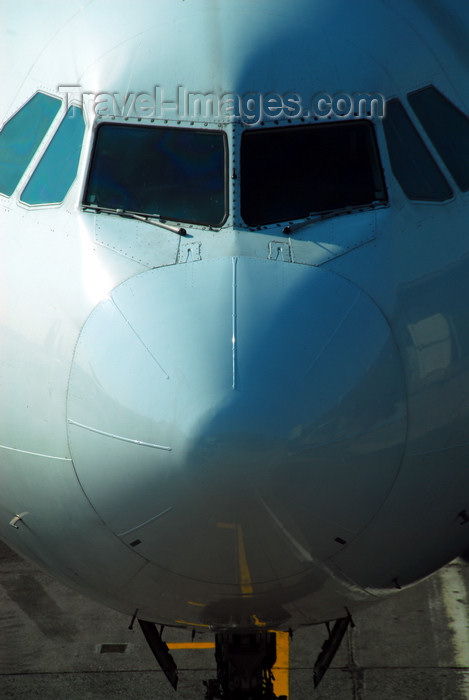 turkey494: Istanbul, Turkey: nose view of Turkish Airlines Airbus A340-313X Kocaeli TC-JIH cn-270- Atatürk-International-Airport - photo by M.Torres - (c) Travel-Images.com - Stock Photography agency - Image Bank