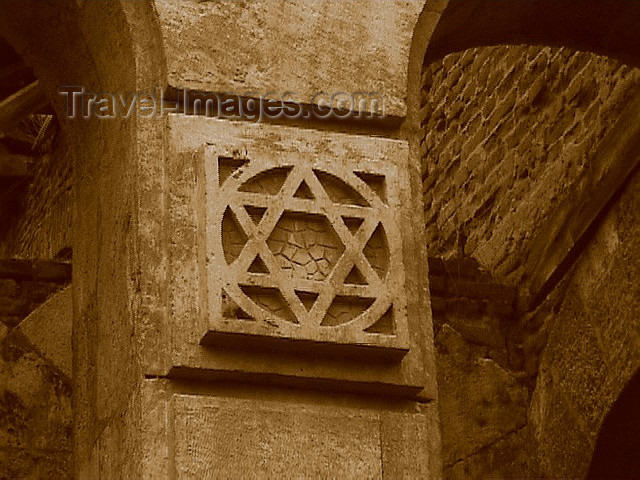turkey50: Turkey - Edirne / Adrianople (Thrace / Trakya): star of David - detail at the synagogue - photo by A.Slobodianik - (c) Travel-Images.com - Stock Photography agency - Image Bank