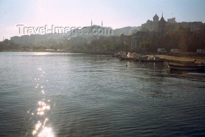 turkey505: Istanbul, Turkey: Golden Horn and church of Saint Stephen of the Bulgars - Mürselpasa Cad., Fatih district - photo by S.Lund - (c) Travel-Images.com - Stock Photography agency - Image Bank
