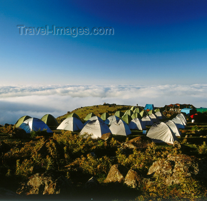 turkey542: Mount Ararat, Agri Province, East Anatolia, Turkey: tents at the base camp - mountaineering expedition - photo by W.Allgöwer - (c) Travel-Images.com - Stock Photography agency - Image Bank