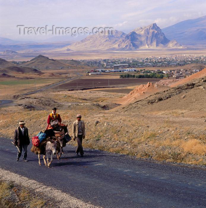 turkey545: Agri province, Eastern Anatolia, Turkey: Kurdish family on the road with their donkeys - Kurdistan - photo by W.Allgöwer - (c) Travel-Images.com - Stock Photography agency - Image Bank