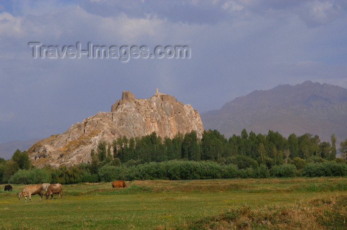 turkey550: Van, Eastern Anatolia, Turkey: Van Castle - citadel overlooking Tushpa, the capital of the kingdom of Urartu - stone fortress - Van Kalesi - photo by J.Wreford - (c) Travel-Images.com - Stock Photography agency - Image Bank