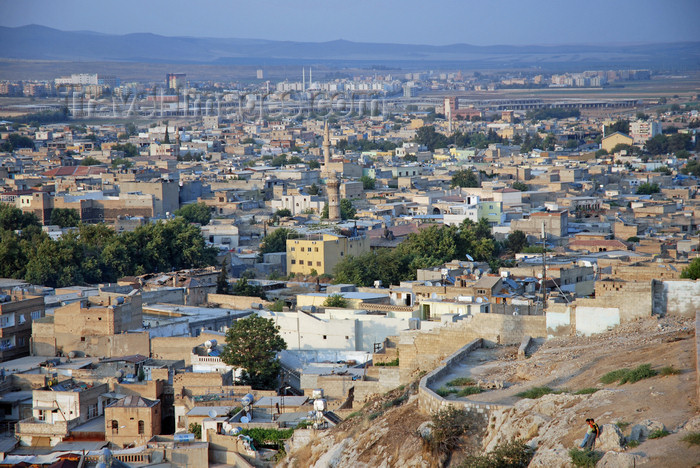 turkey567: Urfa / Edessa / Sanliurfa, Southeastern Anatolia, Turkey: the city seen from the citadel - Ulu Cami - photo by W.Allgöwer - (c) Travel-Images.com - Stock Photography agency - Image Bank