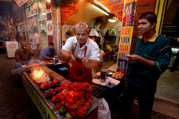 turkey577: Urfa / Edessa / Sanliurfa, Southeastern Anatolia, Turkey: peppers' kebabs - photo by J.Wreford - (c) Travel-Images.com - Stock Photography agency - Image Bank