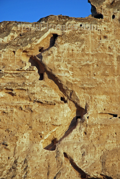 turkey610: Hasankeyf / Heskif, Batman Province, Southeastern Anatolia, Turkey: stairs carved on the cliff above the river Tigris - photo by W.Allgöwer - (c) Travel-Images.com - Stock Photography agency - Image Bank