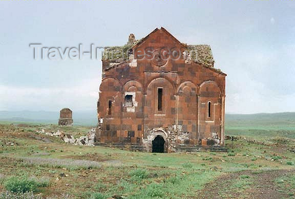 turkey64: Ani - Kars province, Turkey: Armenian Cathedral of Ani in a meadow, designed by Trdat the Architect - photo by G.Frysinger - (c) Travel-Images.com - Stock Photography agency - Image Bank