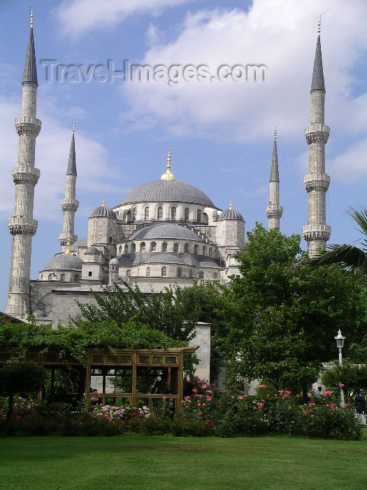 turkey7: Turkey - Istanbul / Constantinople / IST: the Blue Mosque - Sultan Ahmet - photo by R.Wallace - (c) Travel-Images.com - Stock Photography agency - Image Bank