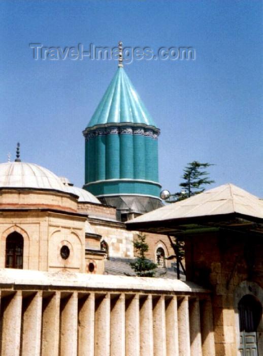 turkey9: Turkey - Konya / KYA (Konya province) : Mevlana Celaleddin Rumi mausoleum/turbe - mystic poet - Sufi - Whirling Dervishes / dergah kuppel - Mevlevi Order - photo by M.Torres - (c) Travel-Images.com - Stock Photography agency - Image Bank