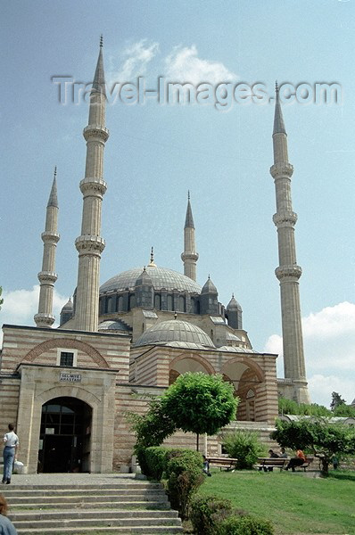 turkey99: Turkey - Edirne: Selimiye mosque - from the garden - photo by J.Kaman - (c) Travel-Images.com - Stock Photography agency - Image Bank