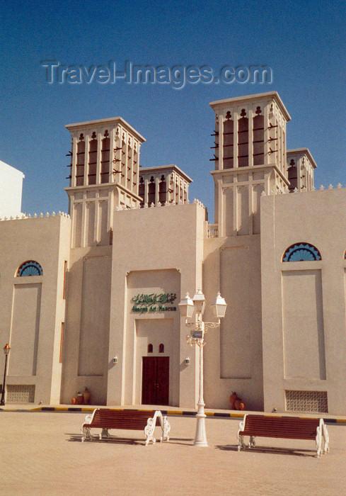 uaesj1: UAE - Sharjah / SHJ : wind towers at the Art Museum - windcatcher - al-barjeel - al-kashteel - photo by M.Torres - (c) Travel-Images.com - Stock Photography agency - Image Bank