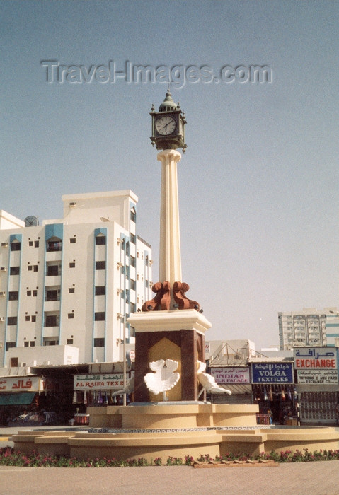 uaesj9: UAE - Sharjah: clock - Rollo square - photo by M.Torres - (c) Travel-Images.com - Stock Photography agency - Image Bank