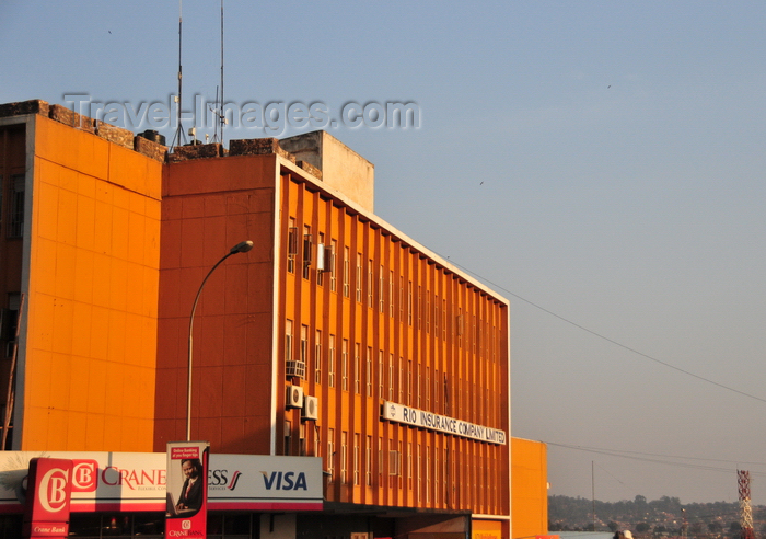 uganda82: Kampala, Uganda: orange facade of the Rio Insurance building - Kampala road, Central Business District - photo by M.Torres - (c) Travel-Images.com - Stock Photography agency - Image Bank