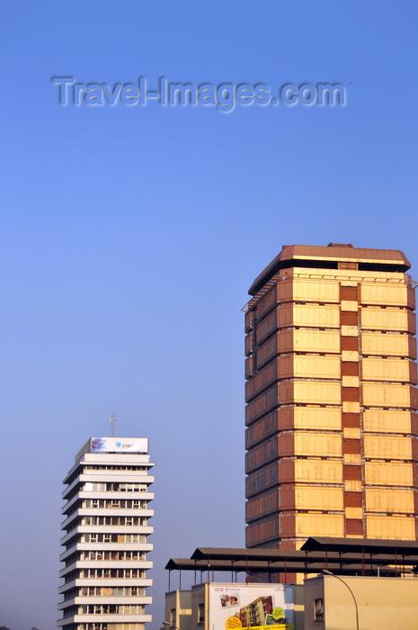 uganda83: Kampala, Uganda: UCB Cham towers and Uganda House - office buildings on Jinja road - photo by M.Torres - (c) Travel-Images.com - Stock Photography agency - Image Bank