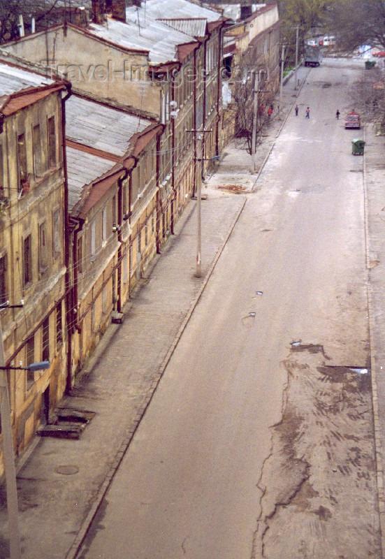 ukra20: Ukraine - Odessa / Odesa / ODS: empty street (photo by Nacho Cabana) - (c) Travel-Images.com - Stock Photography agency - Image Bank