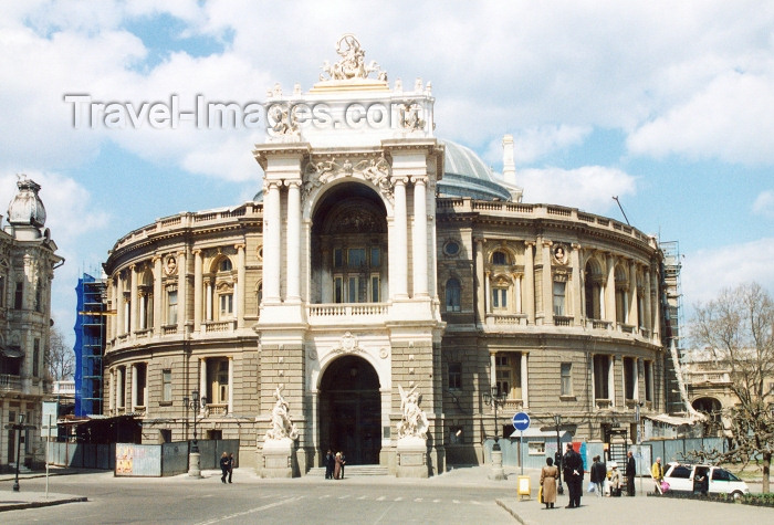 ukra31: Ukraine - Odessa: the opera house - Opera and Ballet Theater - Italian Baroque facade (photo by G.Frysinger) - (c) Travel-Images.com - Stock Photography agency - Image Bank