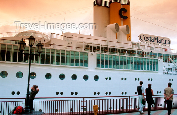 ukra34: Odessa, Ukraine: Costa Marina Cruise Ship - people walking on the boardwalk - photo by K.Gapys - (c) Travel-Images.com - Stock Photography agency - Image Bank