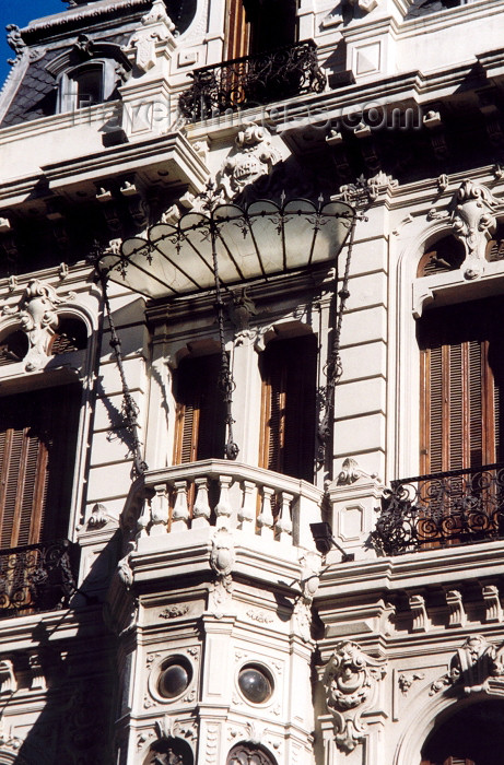 uruguay15: Uruguay - Montevideo: art deco balcony (photo by M.Torres) - (c) Travel-Images.com - Stock Photography agency - Image Bank