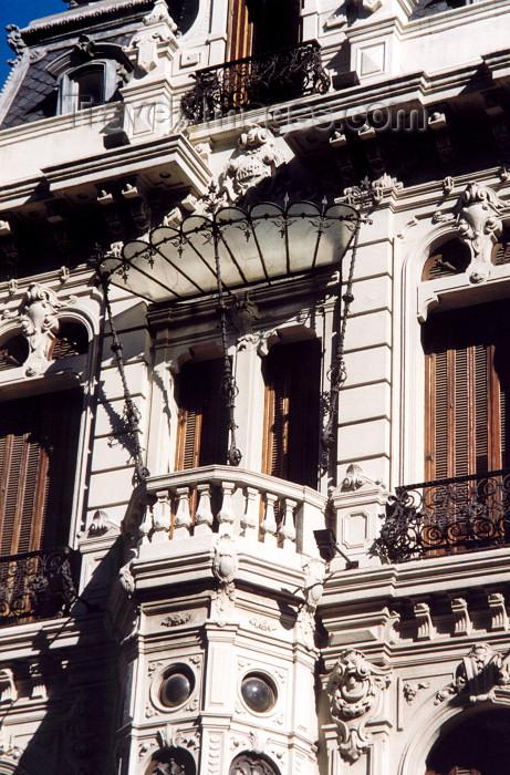 uruguay15: Uruguay - Montevideo: art deco balcony (photo by M.Torres) - (c) Travel-Images.com - Stock Photography agency - Image Bank