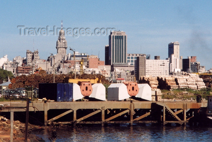 uruguay17: Uruguay - Montevideo: skyline from the harbour (photo by M.Torres) - (c) Travel-Images.com - Stock Photography agency - Image Bank