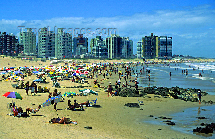 uruguay39: Punta del Este, Maldonado dept., Uruguay:  busy day at the beach - photo by S.Dona' - (c) Travel-Images.com - Stock Photography agency - Image Bank