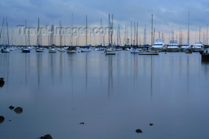 uruguay41: Montevideo, Uruguay: yachts at Puerto del Buceo, owes its name to the 19th century underwater tresure hunters - photo by A.Chang - (c) Travel-Images.com - Stock Photography agency - Image Bank