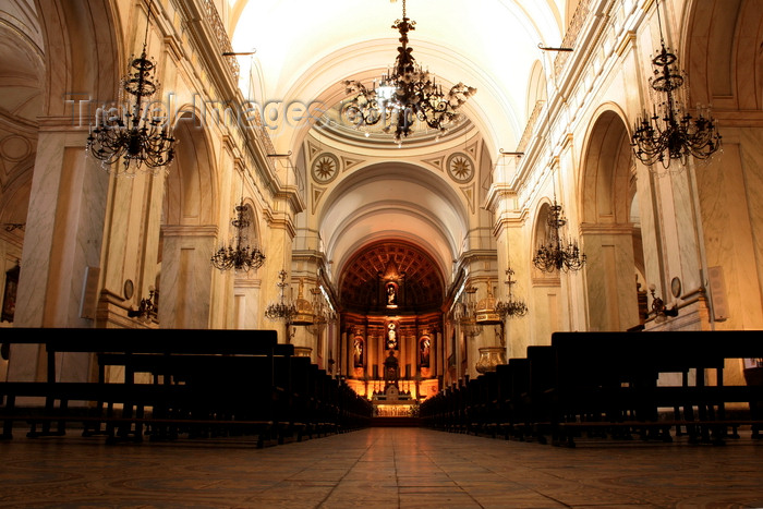 uruguay42: Montevideo, Uruguay: nave of the Cathedral - Catedral Metropolitana - photo by A.Chang - (c) Travel-Images.com - Stock Photography agency - Image Bank