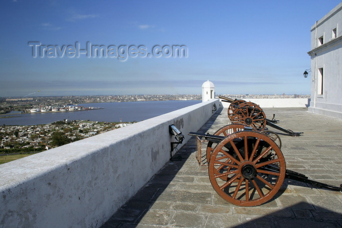 uruguay46: Montevideo, Uruguay: cannons at Fortaleza General Artigas aka Cerro fortress - designed by the military engineer José del Pozo - photo by A.Chang - (c) Travel-Images.com - Stock Photography agency - Image Bank
