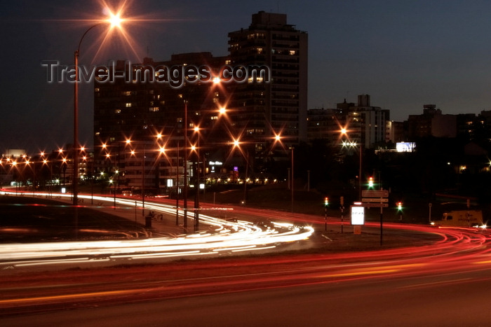 uruguay49: Montevideo, Uruguay: Rambla del Buceo at night - lights - long exposure - photo by A.Chang - (c) Travel-Images.com - Stock Photography agency - Image Bank