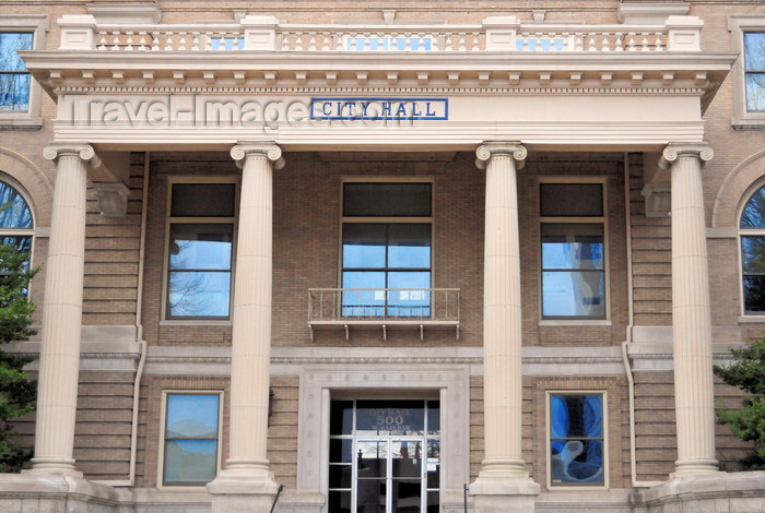 usa1005: Little Rock, Arkansas, USA: City Hall - corner of Markham and Broadway - architect Charles L. Thompson, Classic Revival style  - the city's first City Wall was on the second floor of a downtown liquor store - photo by M.Torres - (c) Travel-Images.com - Stock Photography agency - Image Bank