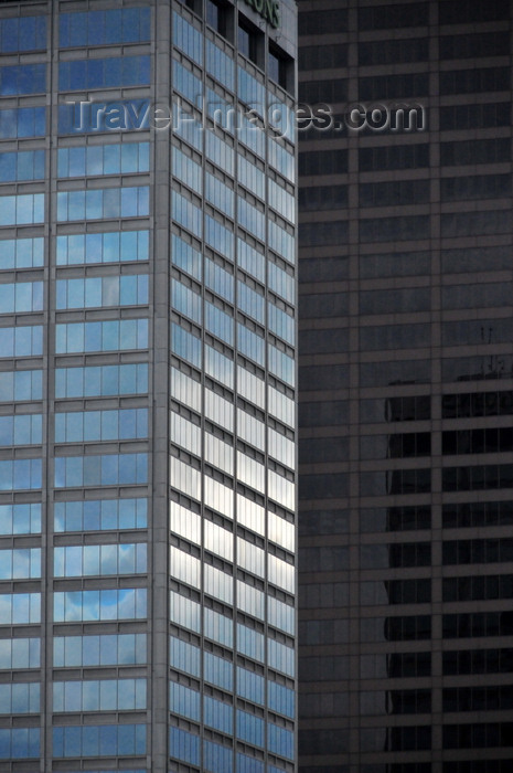 usa1006: Little Rock, Arkansas, USA: skyscrapers - Regions Center / First National Bank Building (L) by Wittenberg, Delony and Davidson Architects and  Metropolitan Tower / TCBY Tower (R) desiged by Wilkins and Sims - photo by M.Torres - (c) Travel-Images.com - Stock Photography agency - Image Bank