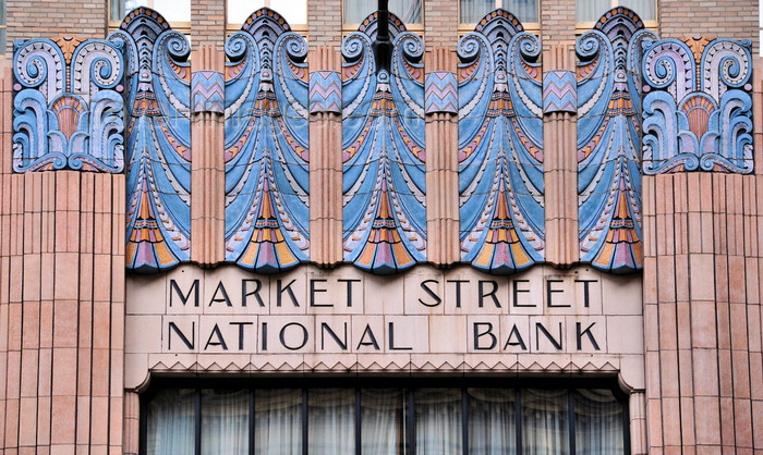 usa1010: Philadelphia, Pennsylvania, USA: Market Street National Bank - Marriott Residence Inn - Art Deco ceramic decoration by O.W. Ketcham Terra Cotta Works - photo by M.Torres - (c) Travel-Images.com - Stock Photography agency - Image Bank