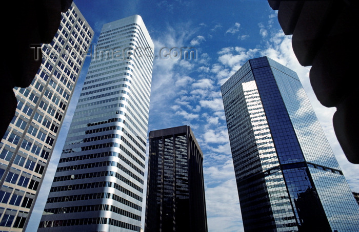 usa103: Denver, Colorado, USA: Central Business District skyscrapers - 1700 Broadway / Mile High Center, 1670 Broadway, Colorado State Bank, Denver World Trade Center - photo by C.Lovell - (c) Travel-Images.com - Stock Photography agency - Image Bank