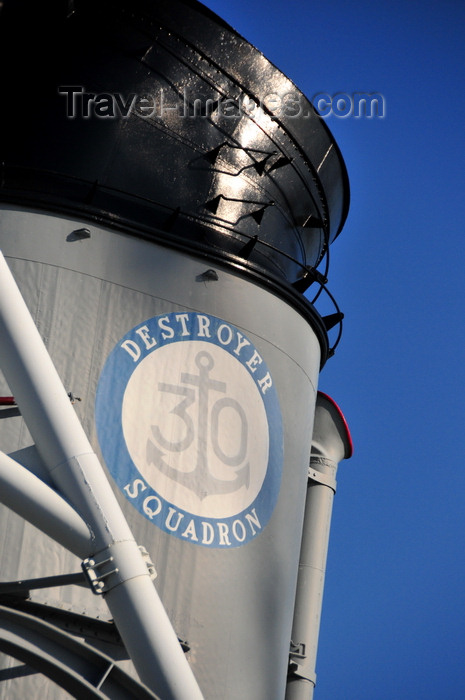usa1152: Boston, Massachusetts, USA: Charlestown Navy Yard - Charlestown Navy Yard - USS Cassin Young DD-793 - 30th Destroyer Squadron marking on the fore smokestack - photo by M.Torres - (c) Travel-Images.com - Stock Photography agency - Image Bank