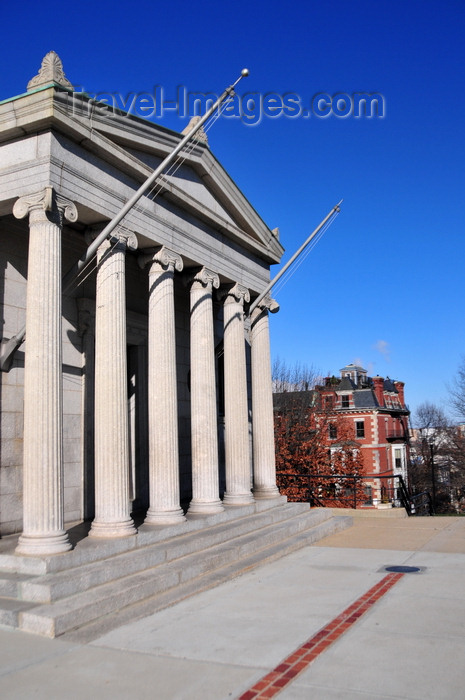 usa1162: Boston, Massachusetts, USA: Charlestown - Bunker Hill Monument - Breed's Hill - neo-classical exhibit lodge - Monument Square - photo by M.Torres - (c) Travel-Images.com - Stock Photography agency - Image Bank