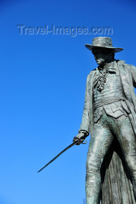 usa1165: Boston, Massachusetts, USA: Charlestown - Bunker Hill Monument - statue of Col. William Prescott, commander of the rebel forces in the battle - photo by M.Torres - (c) Travel-Images.com - Stock Photography agency - Image Bank