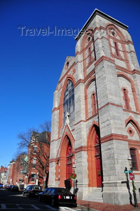 usa1169: Boston, Massachusetts, USA: Charlestown - St Mary's Catholic Church - Warren Street - architect Patrick Charles Keely - photo by M.Torres - (c) Travel-Images.com - Stock Photography agency - Image Bank