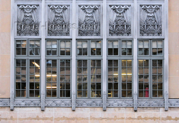 usa1333: Washington, D.C., USA: art deco windows - Brownley Confectionery Building - architectural firm Porter and Lockie - facade of aluminum and limestone - 1309 F St NW - photo by M.Torres - (c) Travel-Images.com - Stock Photography agency - Image Bank